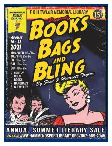 Poster for 2021 Books Bags Bling Sale